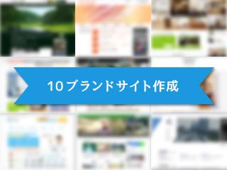 10ブランドそれぞれの独立サイト作成
